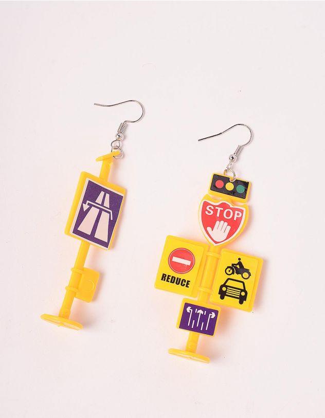 Сережки у вигляді дорожніх знаків | 244155-19-XX - A-SHOP