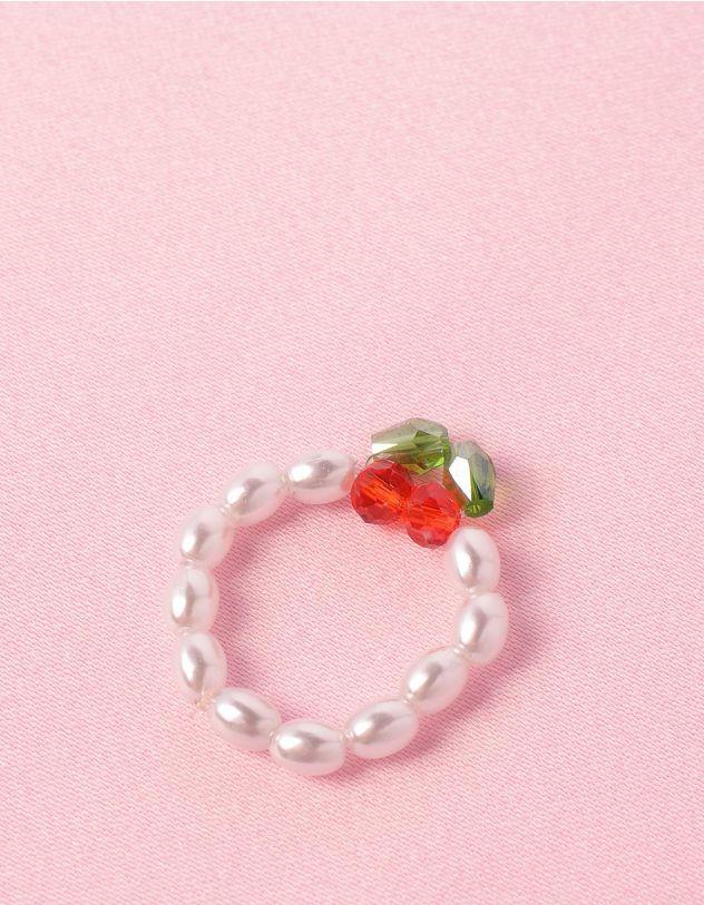 Кільце із перлин з вишнею із бісеру | 248699-01-XX - A-SHOP