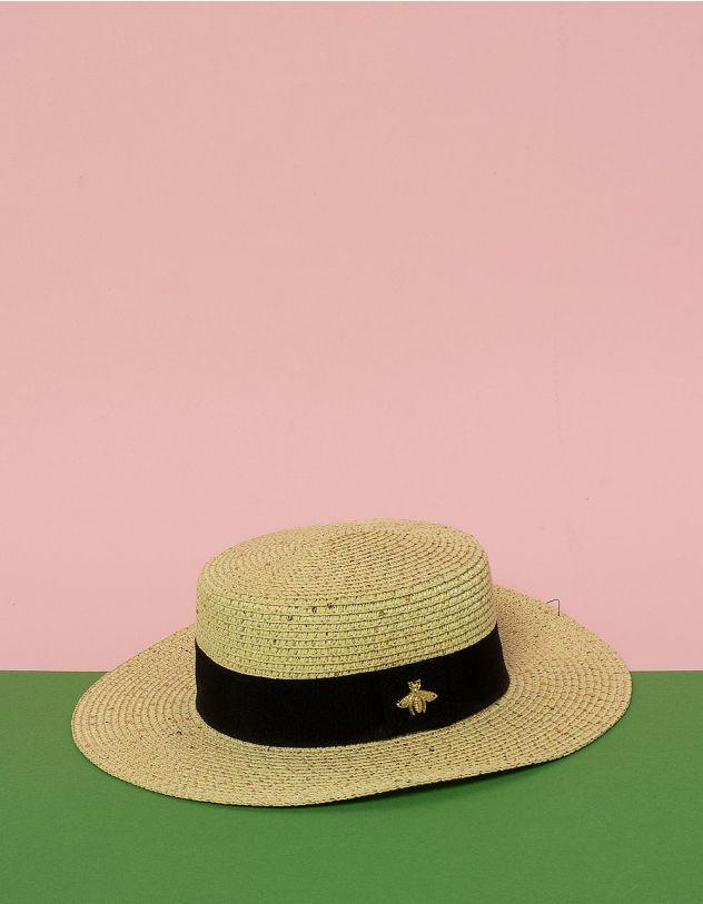 Капелюх плетений з бджолою на стрічці | 230959-22-XX - A-SHOP