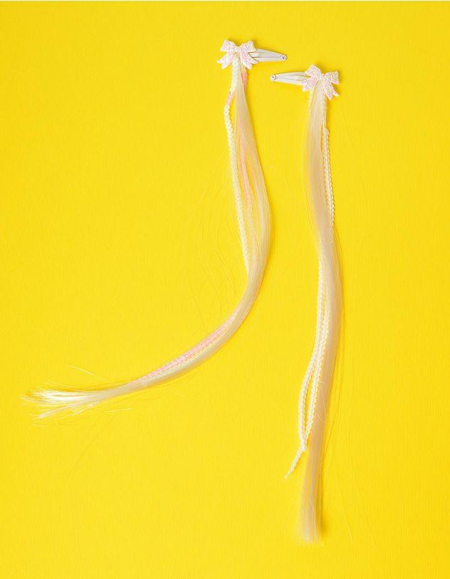 Шпильки для волосся з прядкою та бантом | 234375-01-XX - A-SHOP