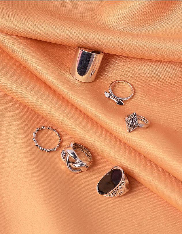 Кільця фалангові  з плетінням | 239989-07-XX - A-SHOP