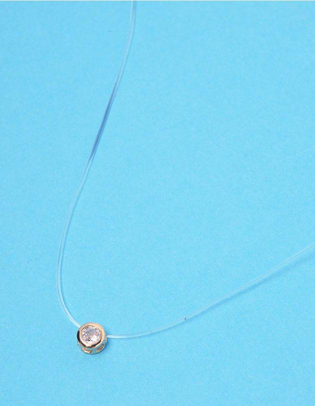 Підвіска із волосіні з камінцем у кулоні   228464-08-XX - A-SHOP