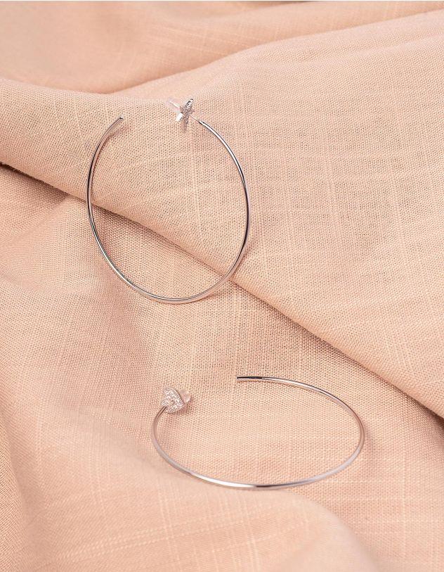 Сережки кільця з серцем та зірочкою | 245054-06-XX - A-SHOP