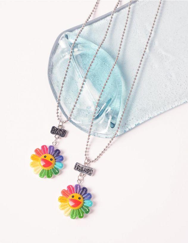 Підвіска best friends з квітками | 239211-21-XX - A-SHOP