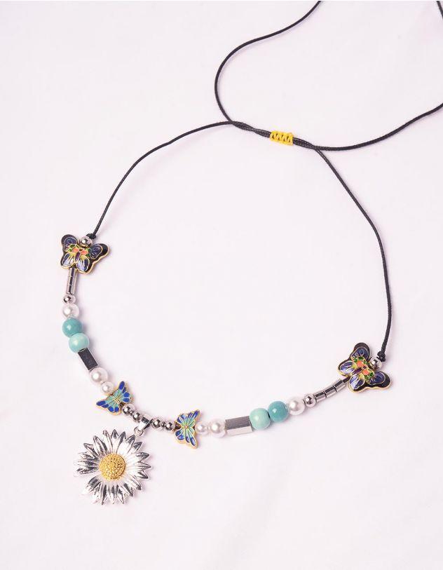 Підвіска на шию  з ромашкою та метеликами   247898-21-XX - A-SHOP