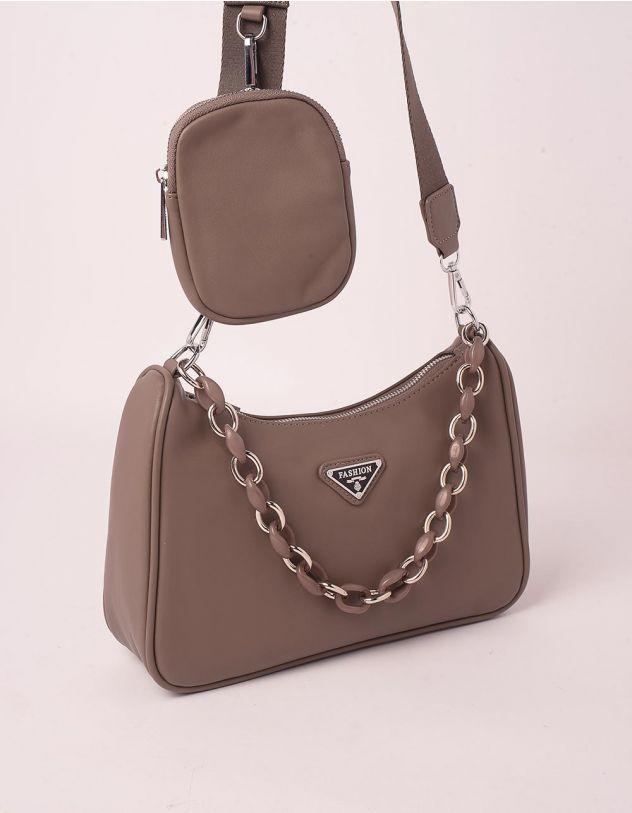 Сумка на плече з гаманцем та ланцюжком | 250128-39-XX - A-SHOP
