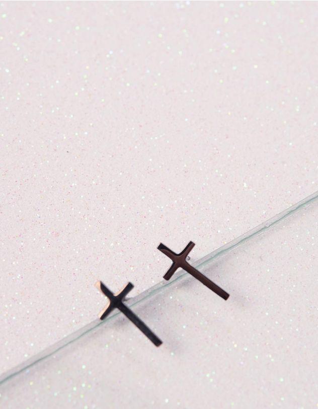 Сережки пусети з хрестами | 240284-02-XX - A-SHOP