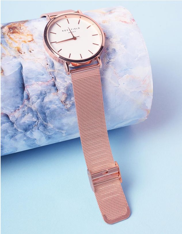 Годинник з металевим ремінцем та круглим циферблатом | 237301-69-XX - A-SHOP