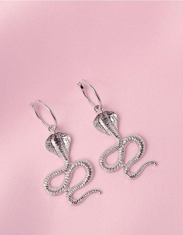 Сережки з підвісками у вигляді кобри | 246218-05-XX - A-SHOP