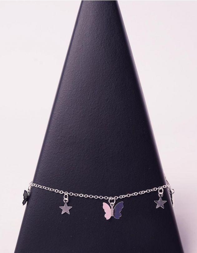Підвіска на шию з метеликами та зірочками | 242672-05-XX - A-SHOP
