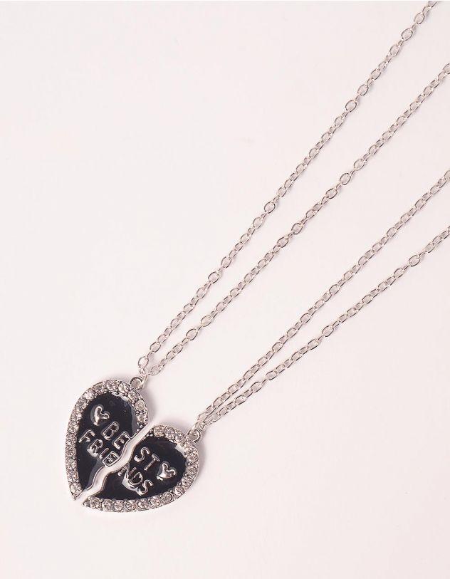 Підвіска на шию best friends з кулоном у вигляді серця   248057-07-XX - A-SHOP