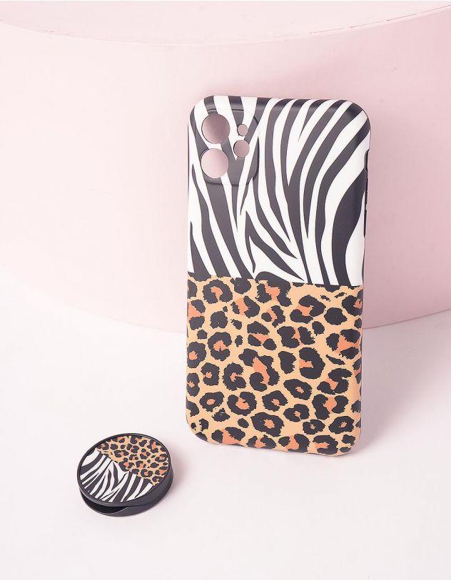 Чохол на iphone з принтом зебри та леопарда | 245775-12-60 - A-SHOP