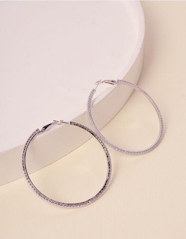 Сережки кільця зі стразами | 238629-06-XX - A-SHOP