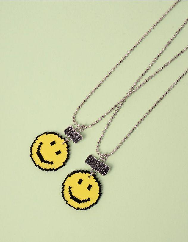 Підвіска на шию best friends з кулонами у вигляді смайликів | 247259-19-XX - A-SHOP