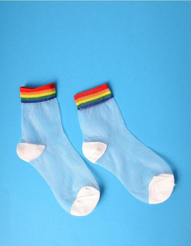 Шкарпетки прозорі зі смужками | 235273-21-XX - A-SHOP