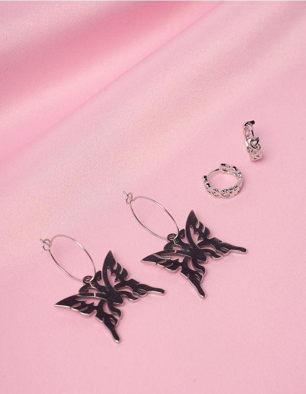 Сережки у наборі з підвісками у вигляді метеликів   246053-05-XX - A-SHOP