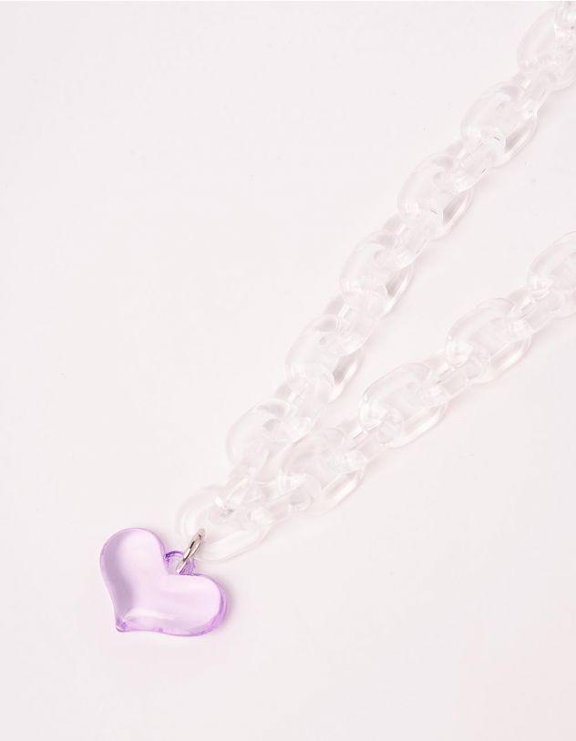 Підвіска на шию із ланцюга з кулоном у вигляді серця | 244041-01-XX - A-SHOP