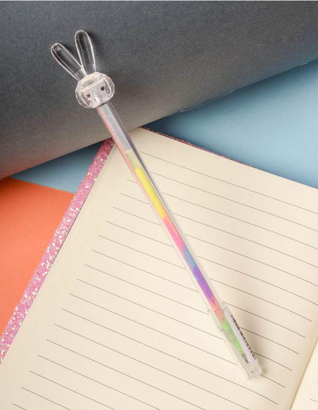 Ручка з кольоровою пастою та зайчиком на кінці | 237823-01-XX