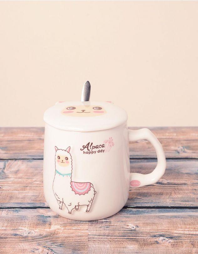 Чашка із зображенням альпака | 239030-01-XX - A-SHOP